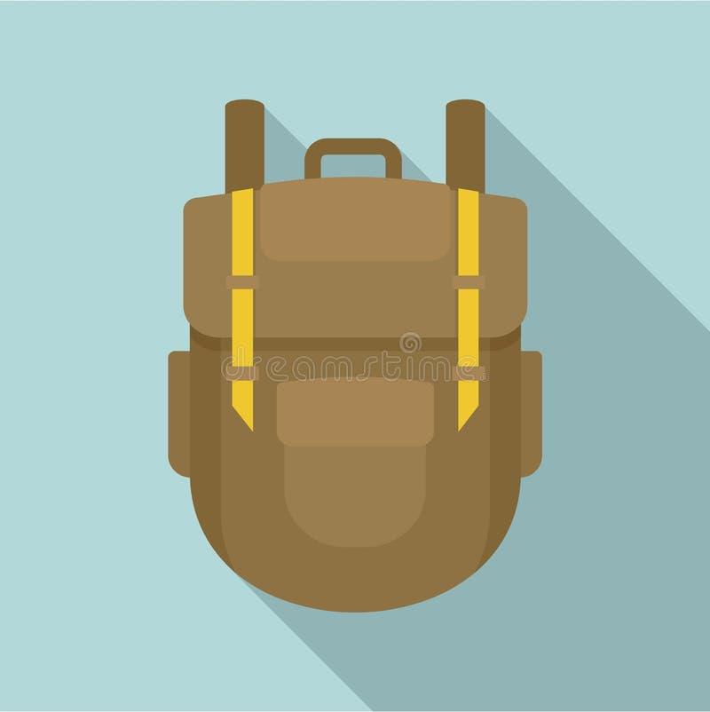 Explore o ícone da trouxa, estilo liso ilustração do vetor