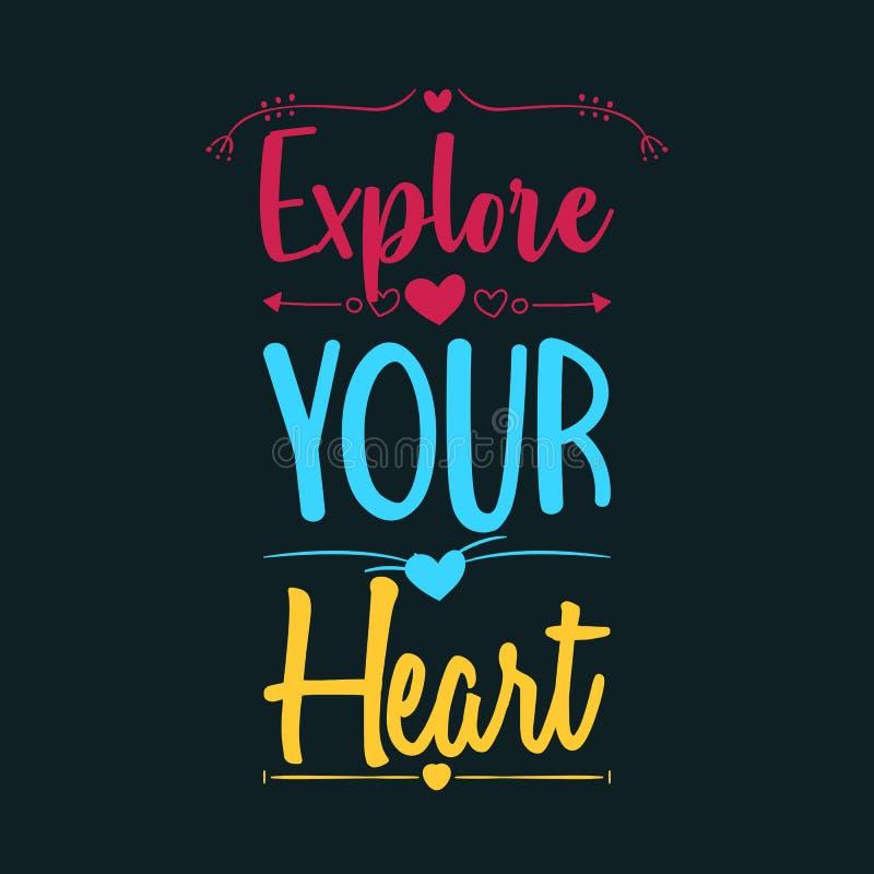 Explore su corazón stock de ilustración