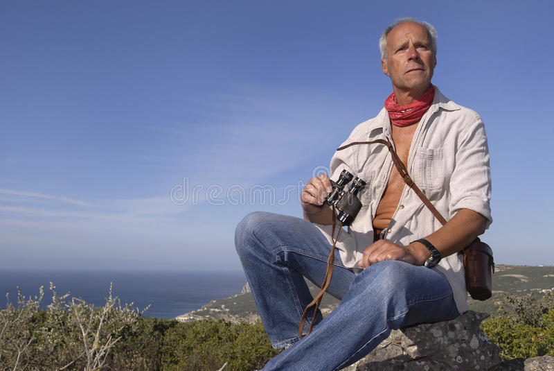 Download Explorer stock image. Image of cliffside, binoculars, healthy - 9539141