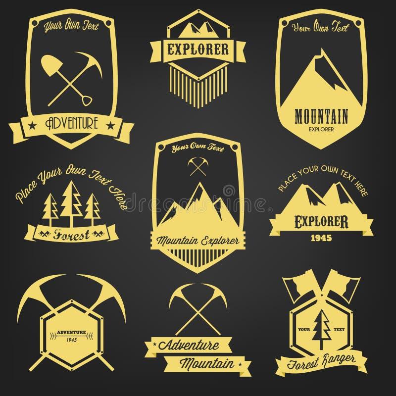 Explorer Adventure Vintage Label stock illustration