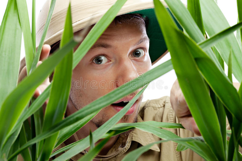Download Explorer Getting Through The Jungle Stock Image - Image: 28345259