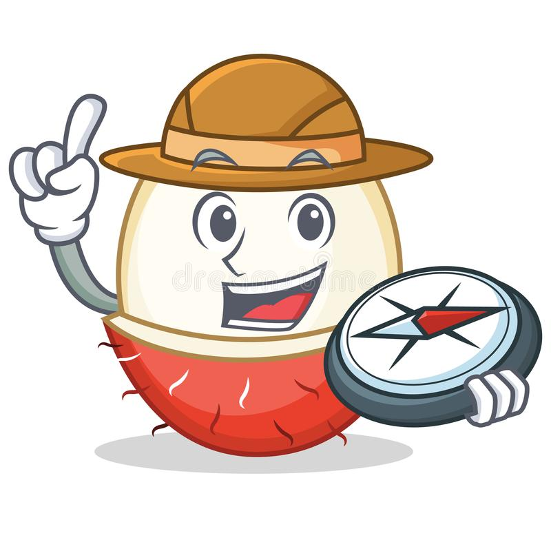 Free Explorer Rambutan Mascot Cartoon Style Royalty Free Stock Photo - 107939535