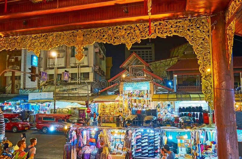 Explorez la vie de nuit de Chiang Mai, Thaïlande photos libres de droits