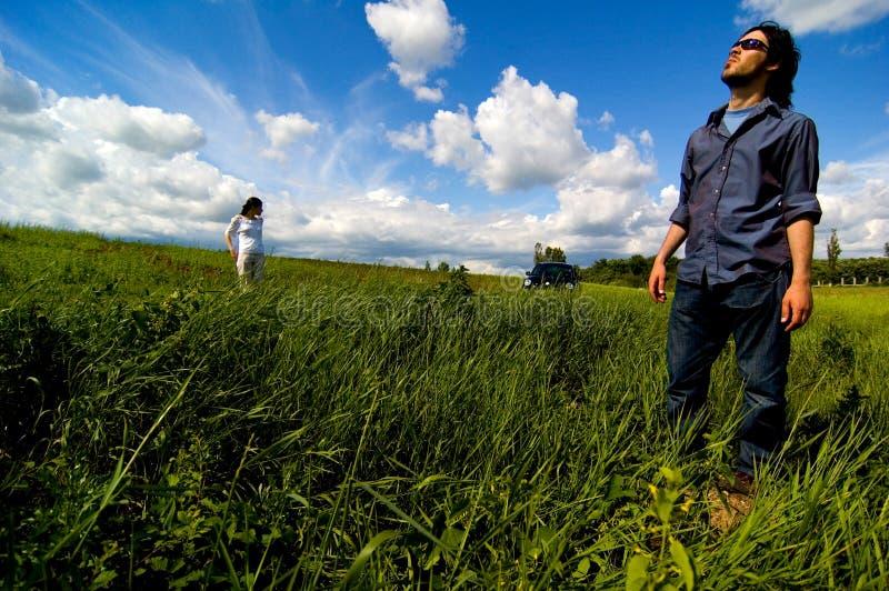 Exploring A Field stock photo