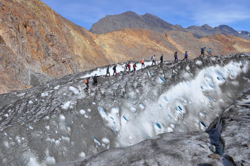 Exploring the Glaciar stock photo