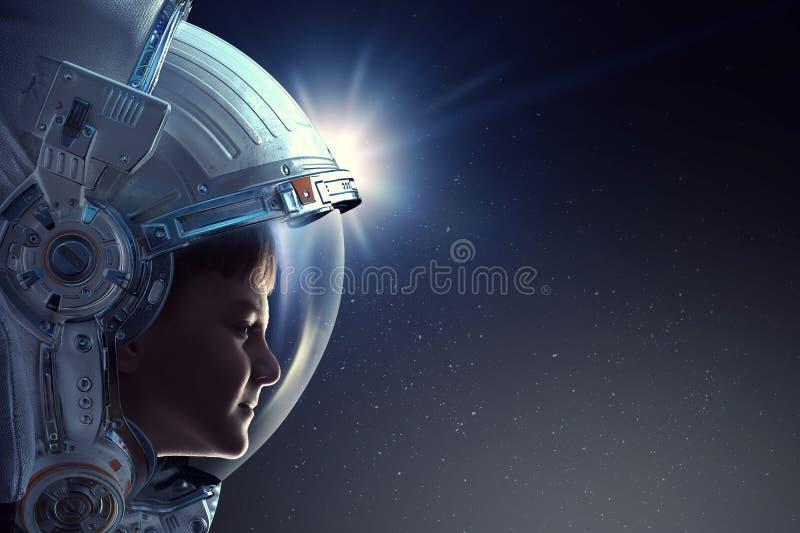 Exploring outer space. Mixed media stock photos