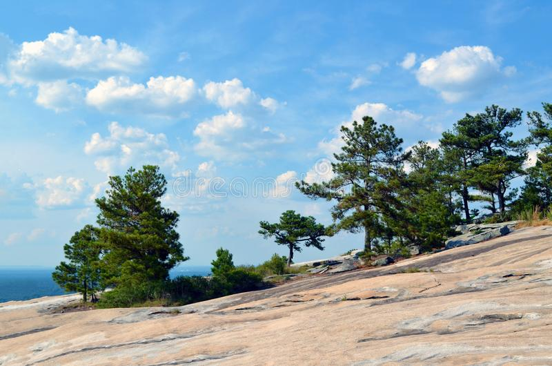 The nature of stone mountain stock image