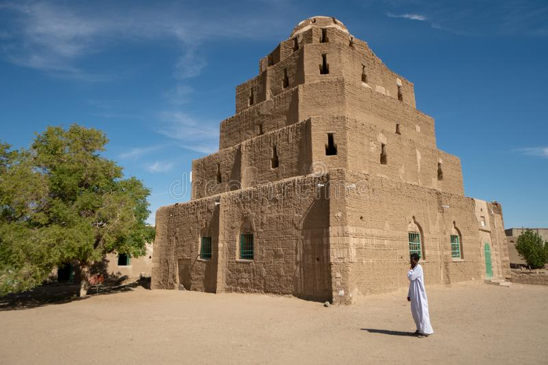 Religious shrine in the Nubian area of the Sudan. Exploring the sudan  be  of ,  discovering this  shrine. abri, ancient, architecture, , building, , culture royalty free stock photo