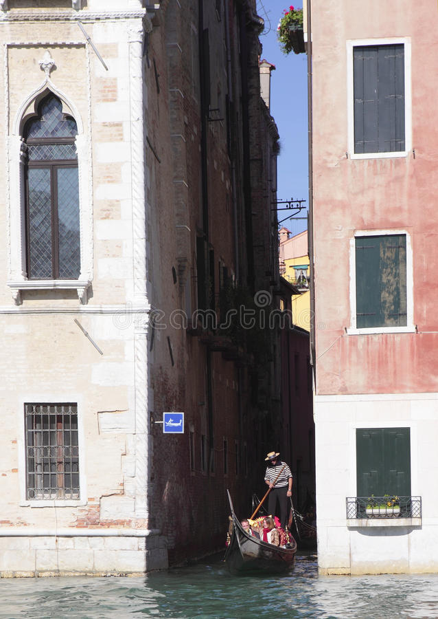 Exploring Venice By Canal Editorial Stock Photo