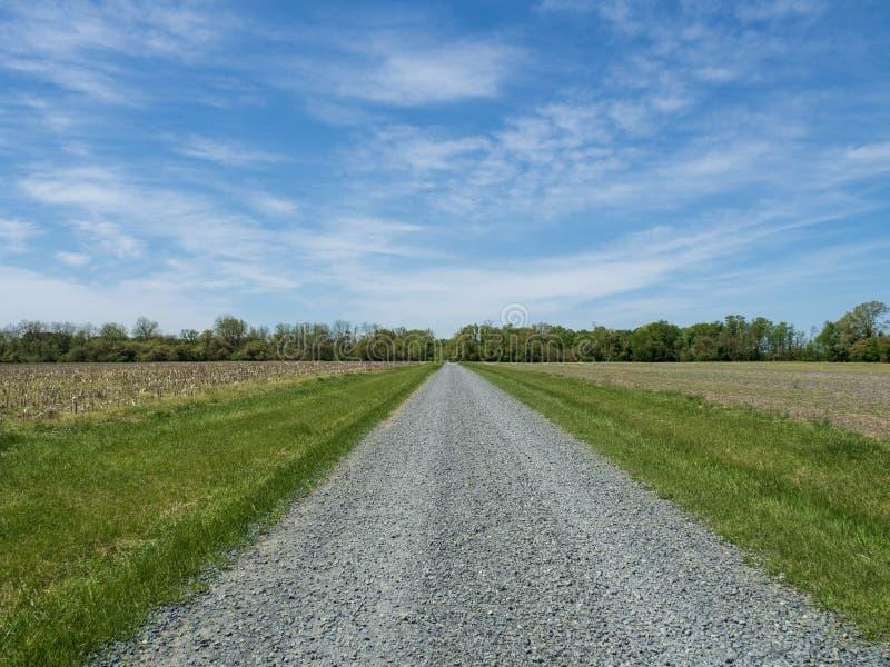 Exploring Wye Islands Farmlands. Horizon, road, dirt stock photo