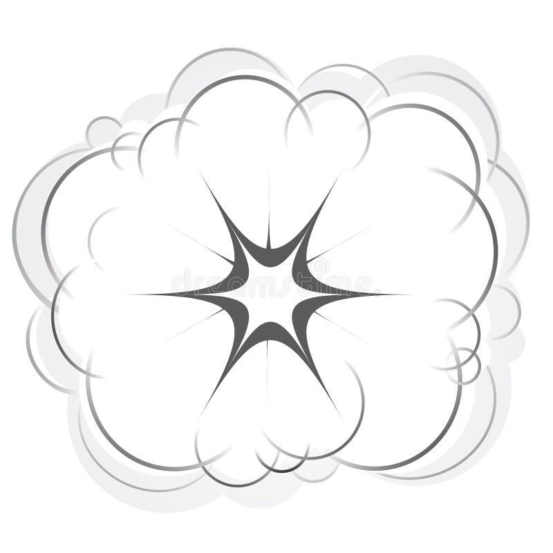 Explosão ilustração royalty free
