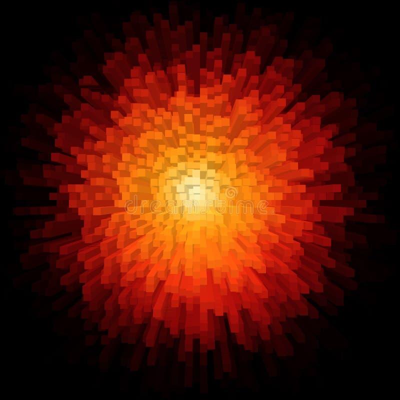 explosão abstrata brilhante das barras coloridas de córrego de dados 3d ilustração royalty free