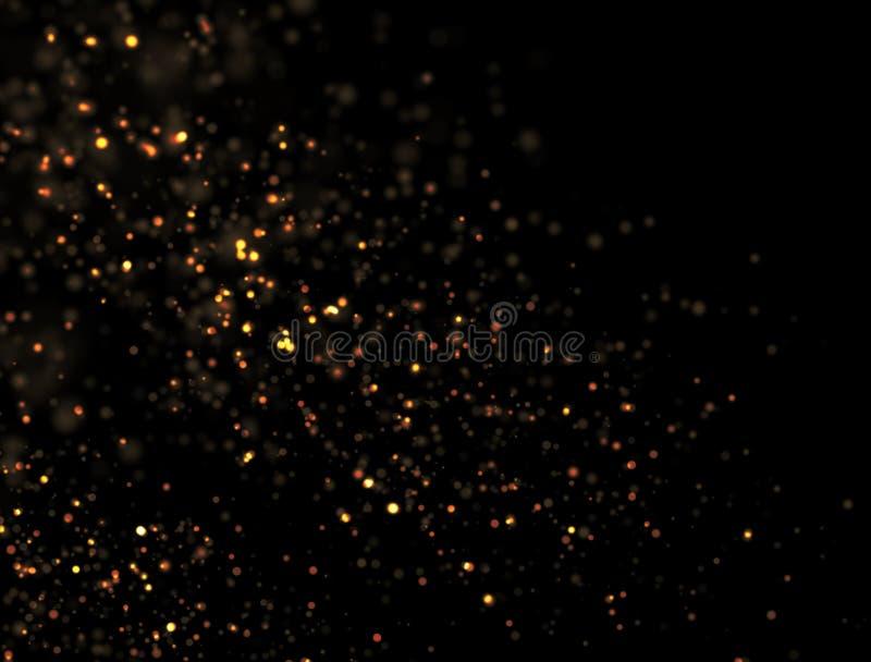 Explosão abstrata do brilho do ouro fotos de stock royalty free