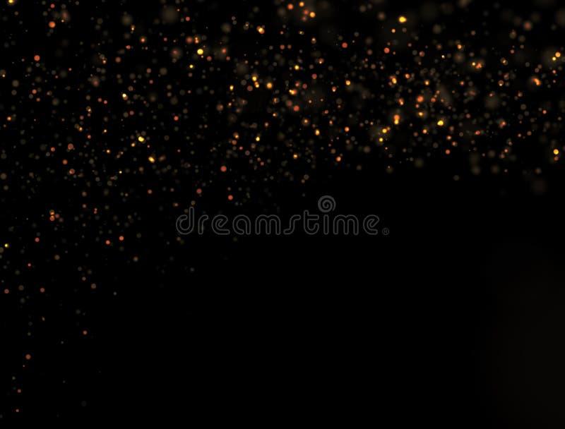 Explosão abstrata do brilho do ouro imagem de stock royalty free