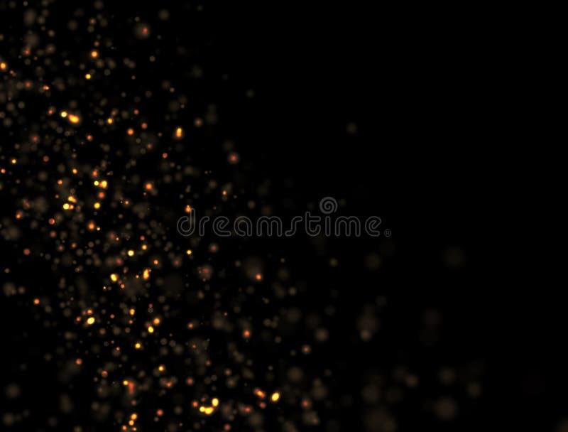 Explosão abstrata do brilho do ouro foto de stock