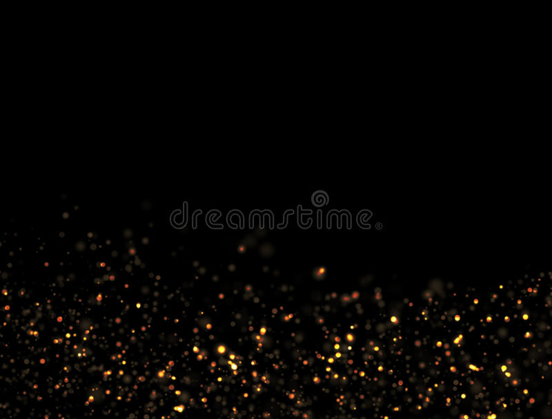 Explosão abstrata do brilho do ouro fotografia de stock royalty free