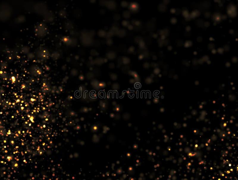 Explosão abstrata do brilho do ouro fotos de stock