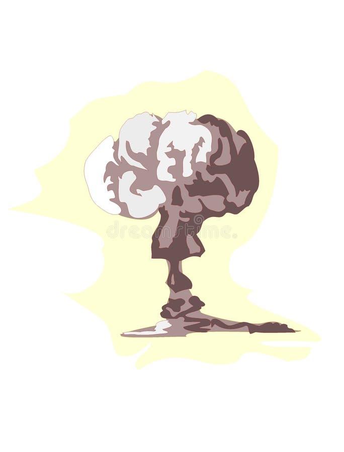 Explosão atômica ilustração stock