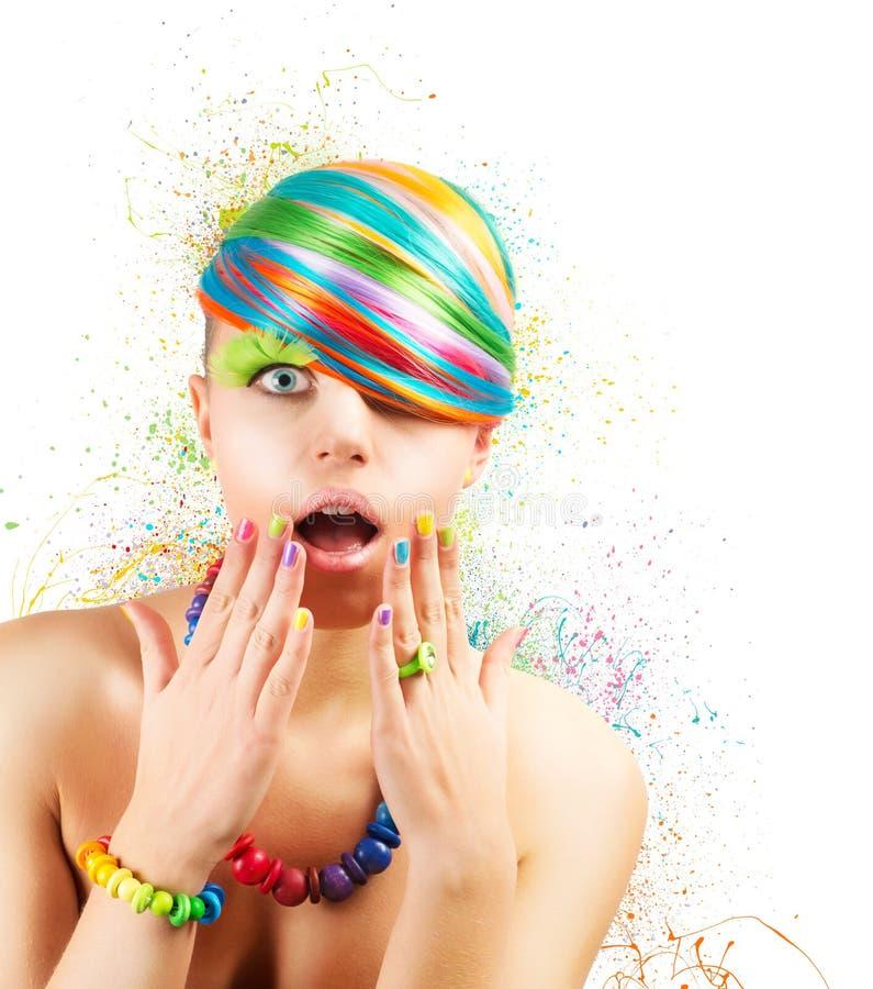 Explosão colorida da forma fotografia de stock royalty free