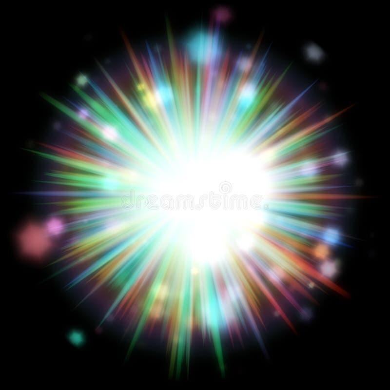 Explosão colorida da luz ilustração royalty free