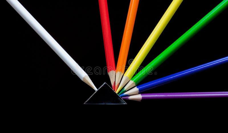 Explosão colorida do lápis foto de stock royalty free