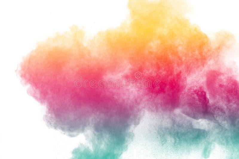 Explosão colorida do pó imagens de stock royalty free