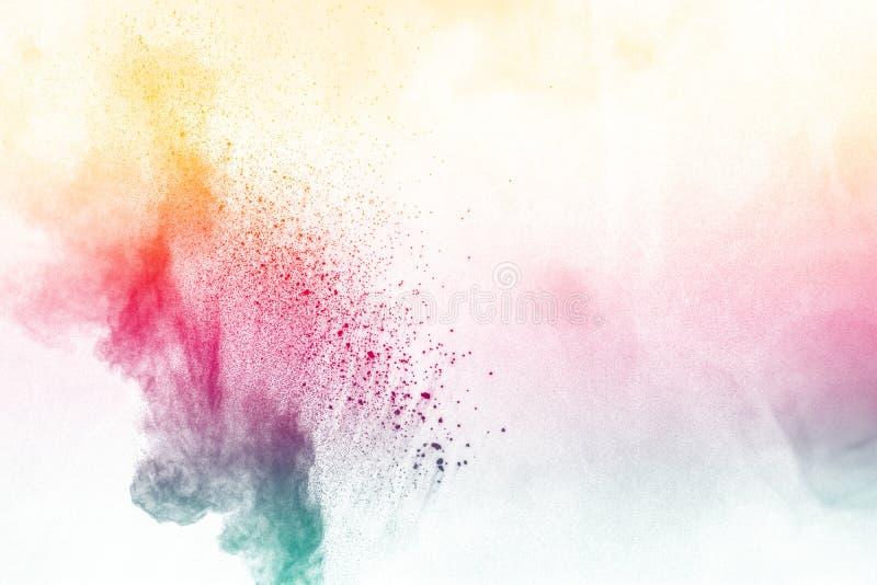 Explosão colorida do pó fotografia de stock royalty free