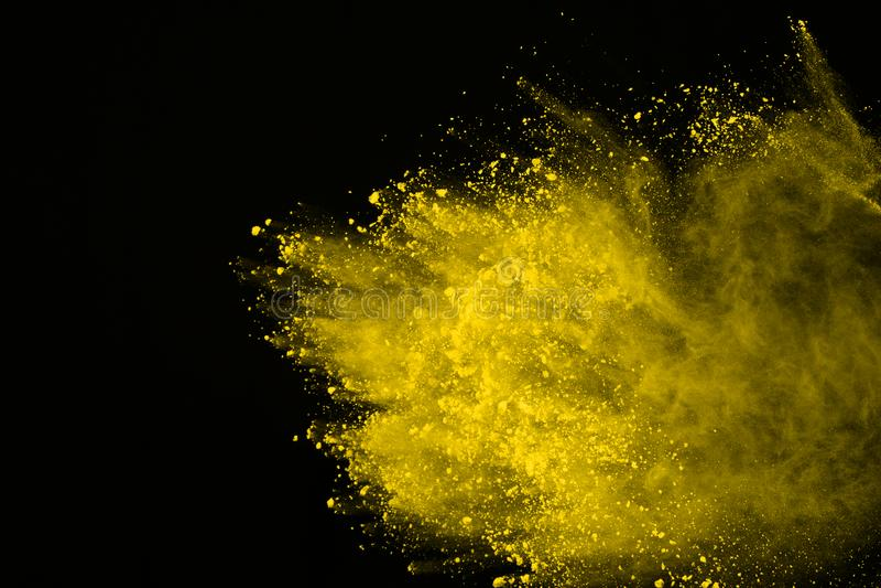 Explosão colorida do pó Poeira de Colore splatted fotografia de stock royalty free