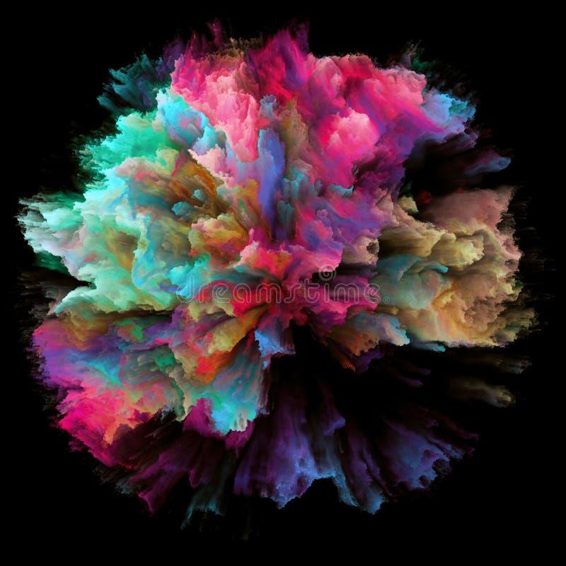 Explosão colorida do respingo da pintura de Digitas ilustração royalty free