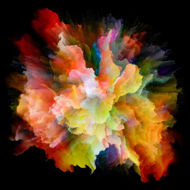 Explosão colorida metafórico do respingo da pintura ilustração stock