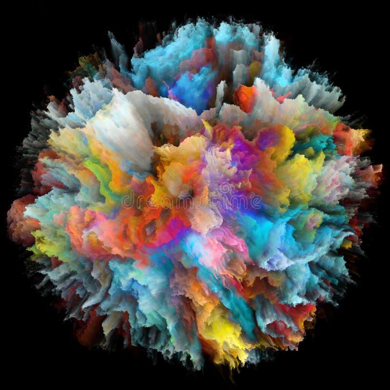 Explosão conceptual do respingo da cor ilustração do vetor