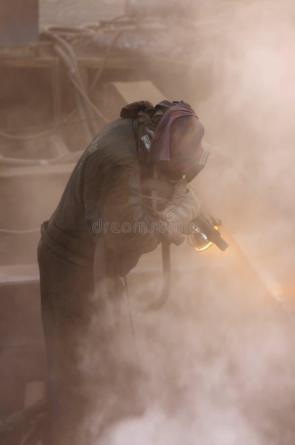 Explosão da areia imagens de stock