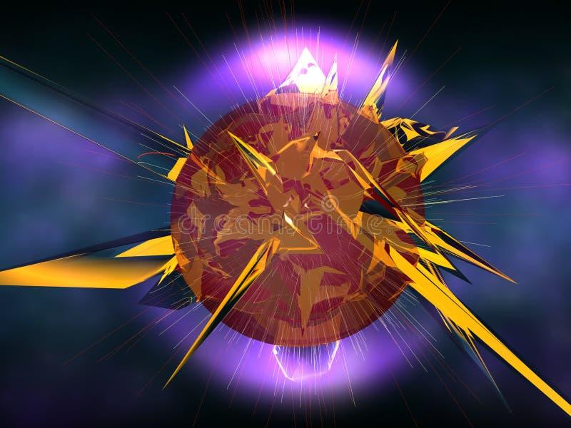 Download Explosão da estrela ilustração stock. Ilustração de preto - 16851985