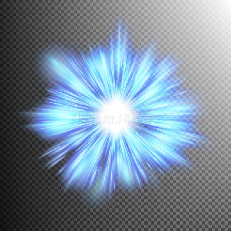 Explosão da estrela com Sparkles Eps 10 ilustração stock