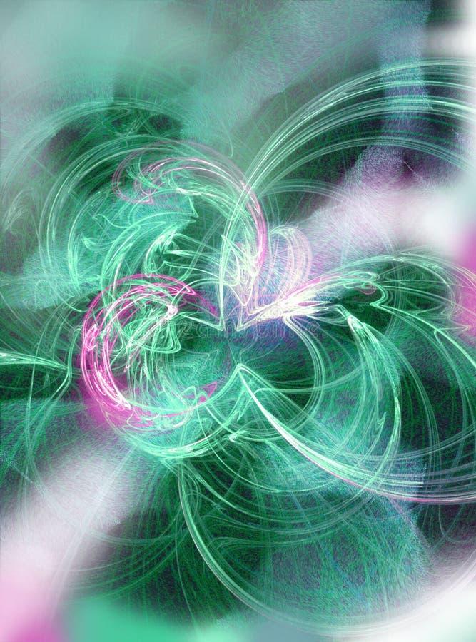 Explosão da estrela - fundo abstrato ilustração do vetor