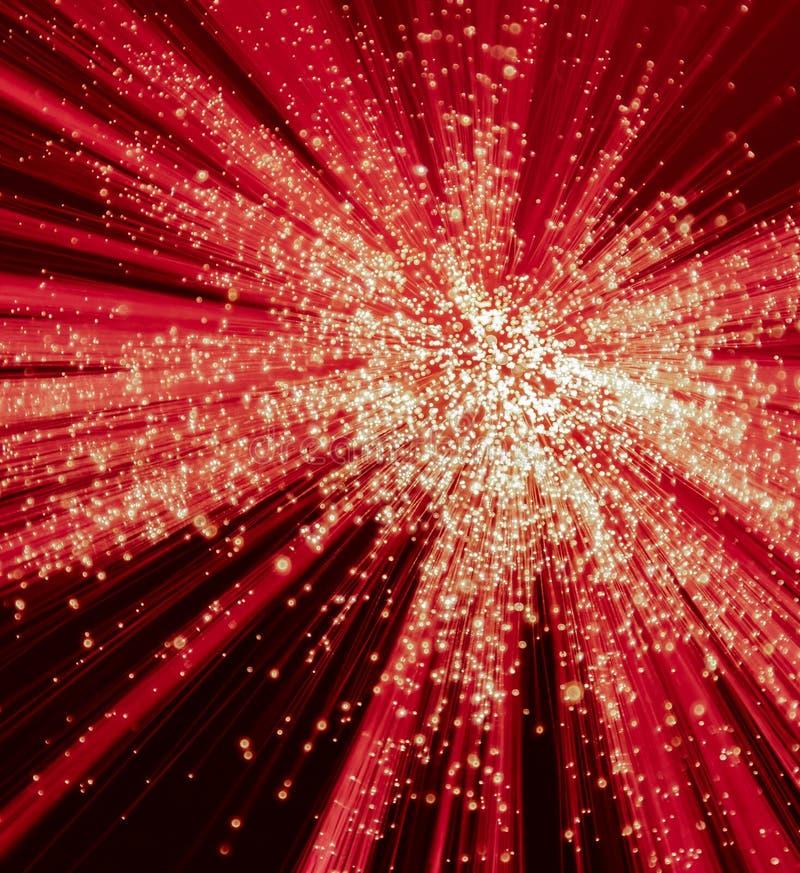 Explosão da luz vermelha e branca imagens de stock