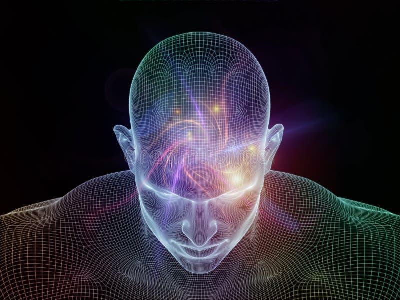 Explosão da mente ilustração do vetor
