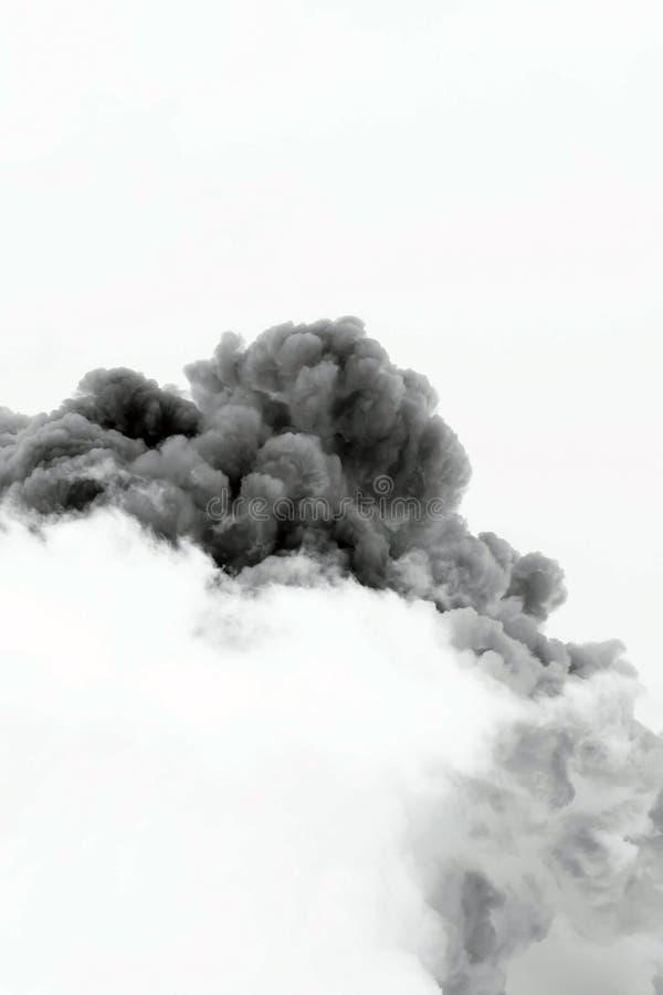 Explosão da nuvem de fumo imagens de stock royalty free