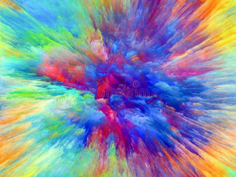 Explosão de cor ilustração do vetor