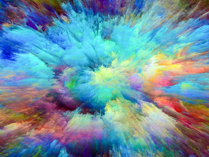 Explosão de cor imagem de stock