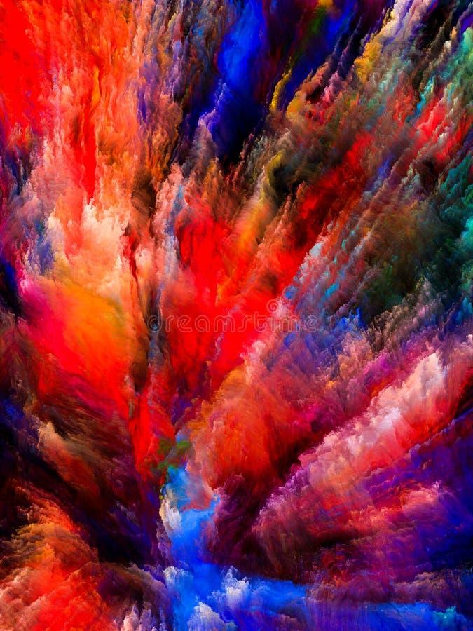 Explosão de cor ilustração stock