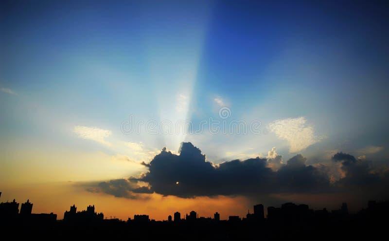 Explosão de Sun foto de stock