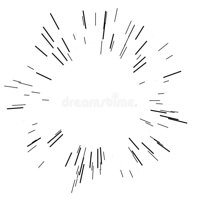 Explosão de Sun, luz do sol da explosão da estrela ilustração stock