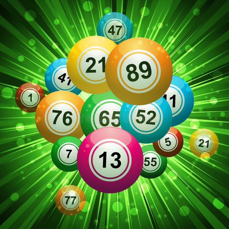 Explosão do Bingo ilustração do vetor