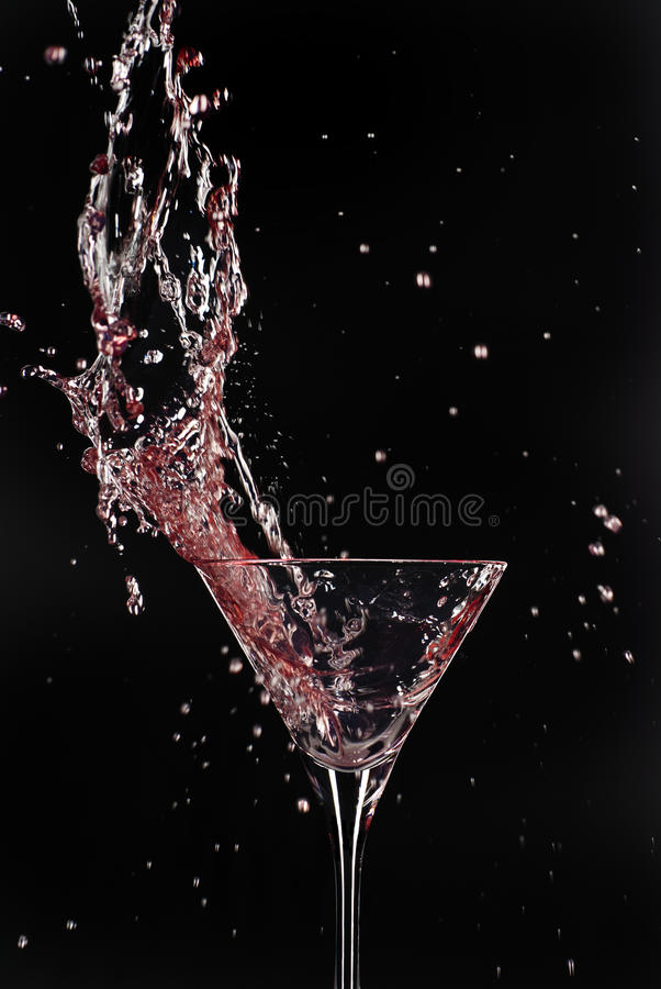 Explosão do cocktail fotografia de stock