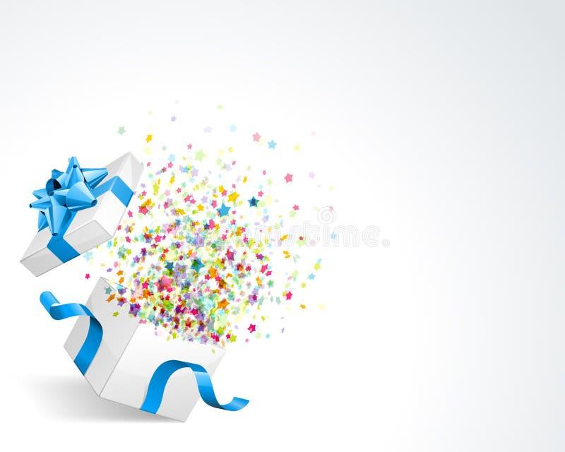 Explosão do Confetti da estrela ilustração stock