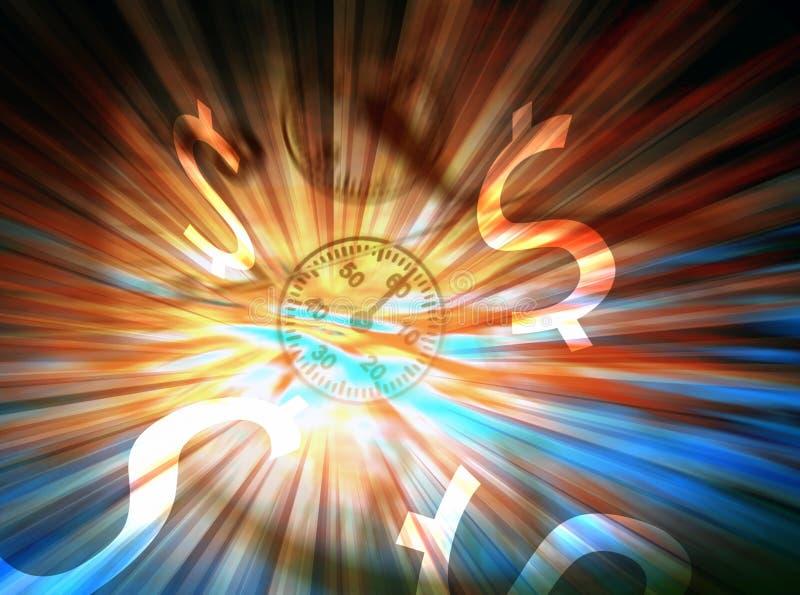 Explosão do dólar ilustração do vetor