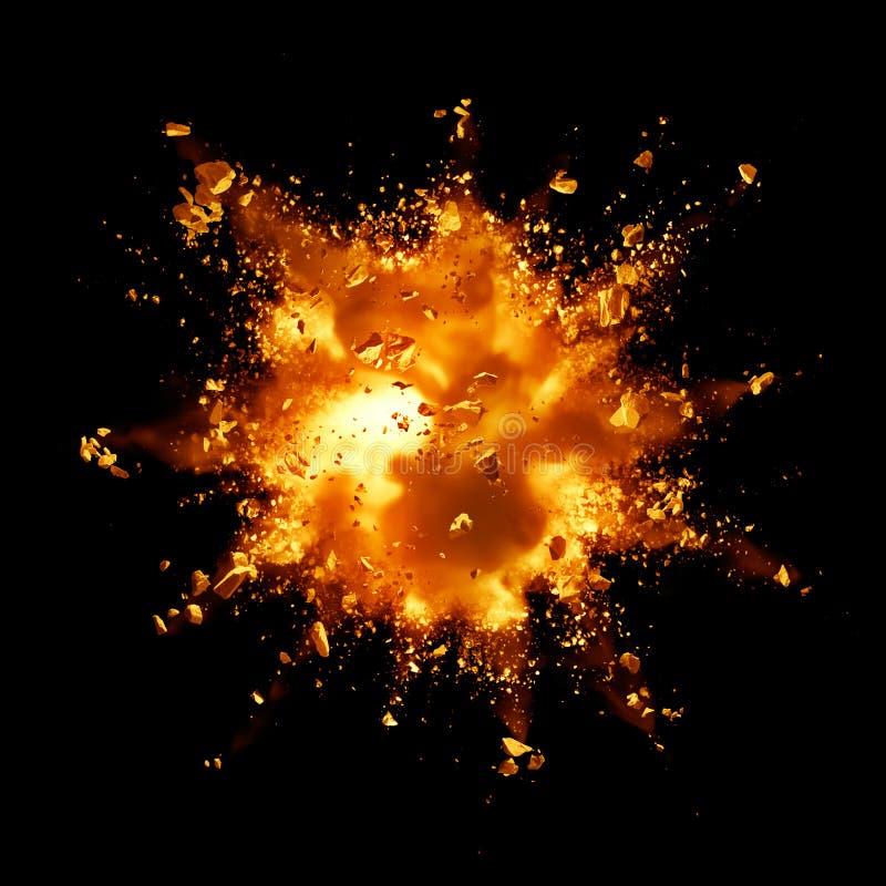 Explosão do fogo ilustração royalty free
