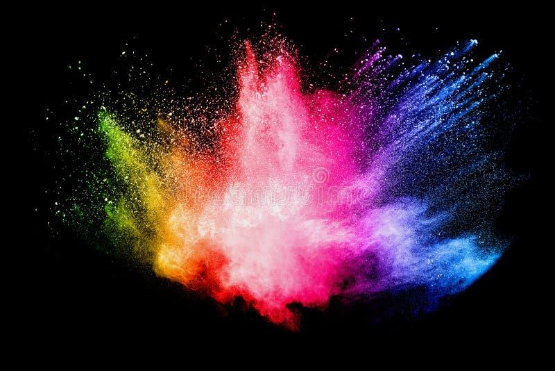 Explosão do pó da cor foto de stock royalty free
