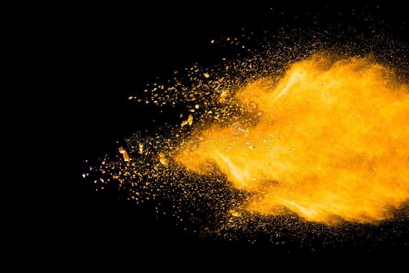 Explosão do pó da cor foto de stock